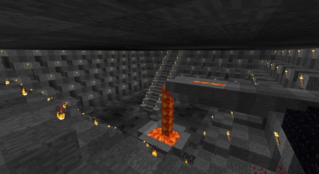 0. Greenie - алмазный рудник (Minecraft) на ранней стадии строительства